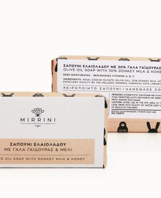 mirrini-natural soap-donkey milk-olive oil-honey